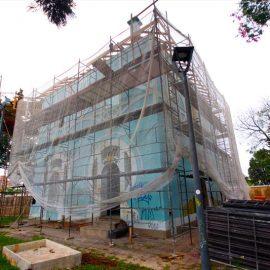 Obras da cobertura do Palácio Belvedere estão quase prontas