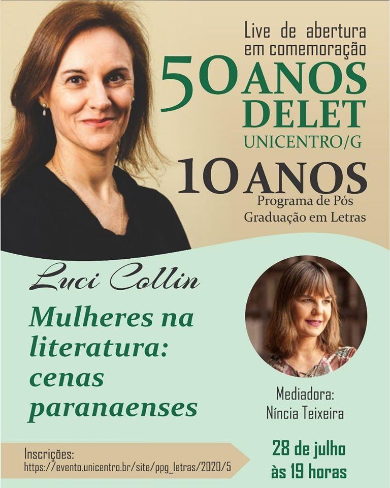 Mulheres na literatura é tema de conferência de Luci Collin