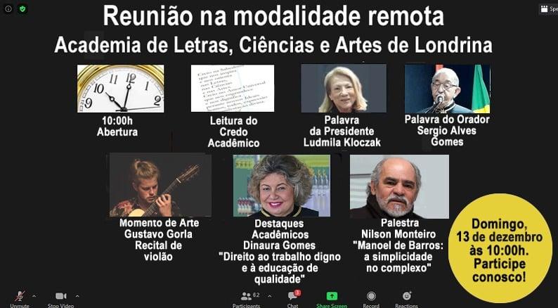 Nilson Monteiro palestra em reunião da Academia de Londrina