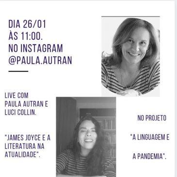 Luci Collin participa de live com Paula Autran
