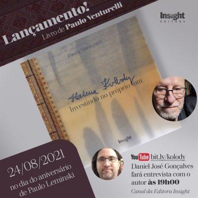 É hoje! Lançamento de Paulo Venturelli