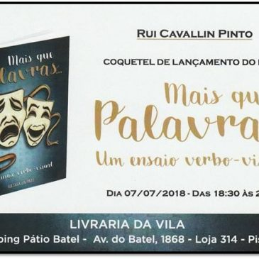 Novo livro de Rui Cavallin será lançado hoje