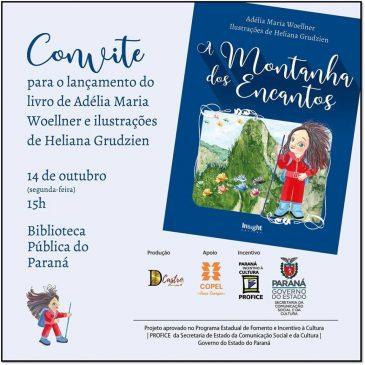 """Adélia Woellner lança """"A Montanha dos Encantos"""""""