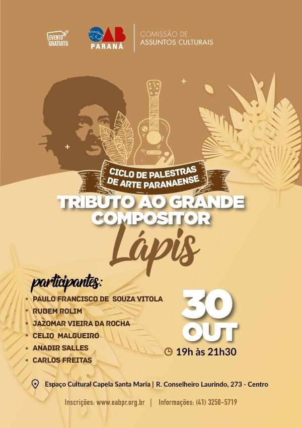 Paulo Vítola participa de tributo ao compositor Lápis