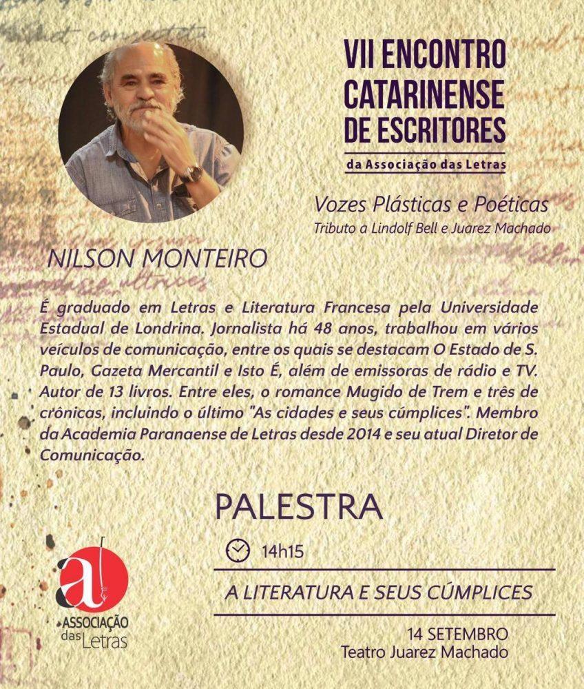 Nilson Monteiro palestra em encontro de escritores