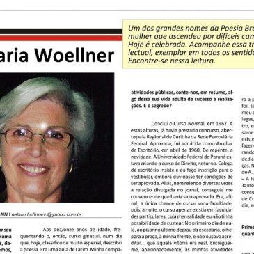 Jornal gaúcho entrevista Adélia Maria Woellner