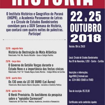 Hoje! Etel Frota profere palestra de encerramento da XXIV Semana de História