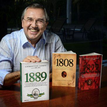 Laurentino Gomes em poadcast da Folha