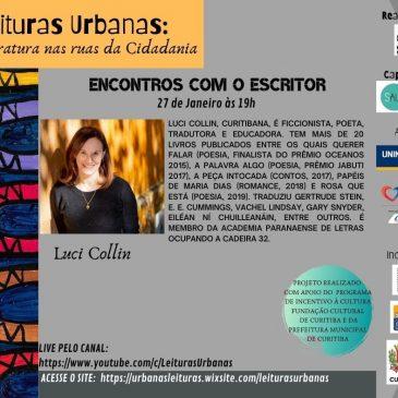 Luci Collin é atração do Leituras Urbanas