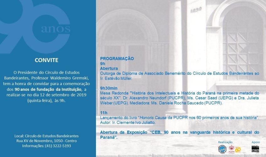 Clemente Ivo Juliatto lança livro em evento do CEB